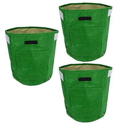 3Pcs double couche 35x 40cm Tissu non tissé de pommes de terre Tub Grow pommes de terre Patio recyclé en pleine Croissance Sac