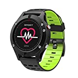 Lixada DTNO.I F5 Smart Armbanduhr Höhenmesser Barometer Thermometer IP67 GPS Smartwatch Tragbare Geräte Multifunktions Armband Kompatibel mit Android iOS Unterstützung BT4.2 Grau.