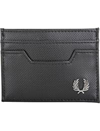 Fred Perry Pique Texture Card Holder Homme Wallet Noir