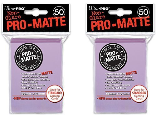 100 Ultra Pro Lilac PRO-MATTE Deck Protectors Sleeves Standard MTG Pokemon by Ultra Pro