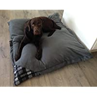 Hundebett XXXL grau, 120x100 cm, Hundekissen waschbar, Tier-Kissen