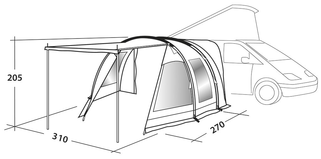 Easycamp Waterproof Shamrock Unisex Outdoor Hiking Awning Tent, Grey, One Size 3
