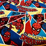 Visage Spiderman Flanell Stoff - Spiderman Shatter -
