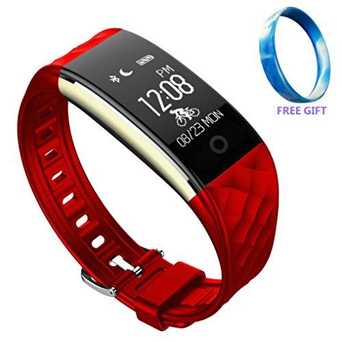 JIAMEIYI Herzfrequenz Messgerät S2 Smart Armband mit Schlaf und Sport Tracker Multifunktional Bluetooth Wasserdicht Armband mit OLED Display