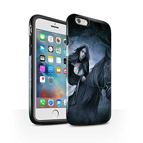 Officiel Elena Dudina Coque / Brillant Robuste Antichoc Etui pour Apple iPhone 6+/Plus 5.5 / Loups Blancs Design / Les Animaux Collection Trois dans la Nuit