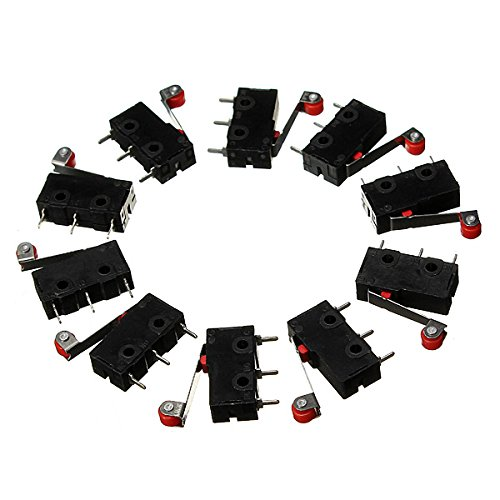 10Pcs Micro Limit Switch Roller Lever 5A 125V Open Close Switch - Temperatur Limit