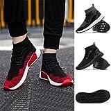 b34bfe2c9efb Chaussures Homme 2018 Nouveau Style Mode Haute Aide Doux Sole Chaussures de Course  Gym Chaussures Chaussettes