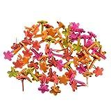 FITYLE 100pcs Puntine Beads Charms Carta Di Fissaggio Scrapbooking Abbellimento Artigianato DIY - 7.5mm