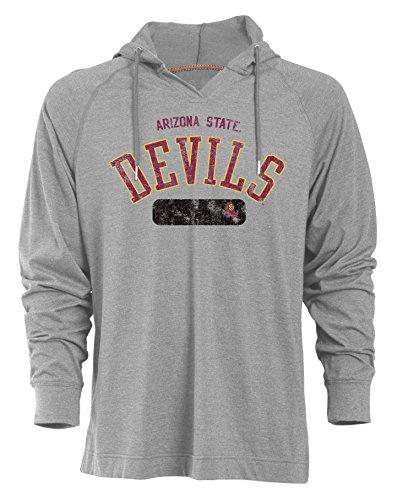 Baumwolle Tipped Pullover Mit V-ausschnitt (Camp David NCAA Beach Boy Herren Long Sleeve Pullover Kapuze, Herren, Beach Boy, Oxford, Medium)