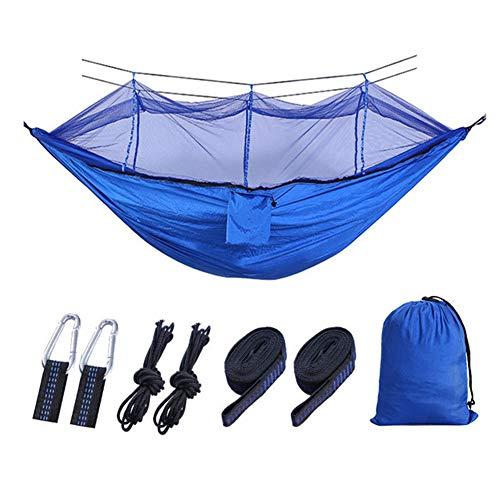 hupuy Hamaca para Acampar al Aire Libre con mosquitero Tela de paracaídas Hamacas ultraligeras Camas Dobles Colgando Columpio Cama para Dormir