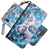 COTDINFOR Case for Huawei Y6 2019 Case Wallet Cool Animal