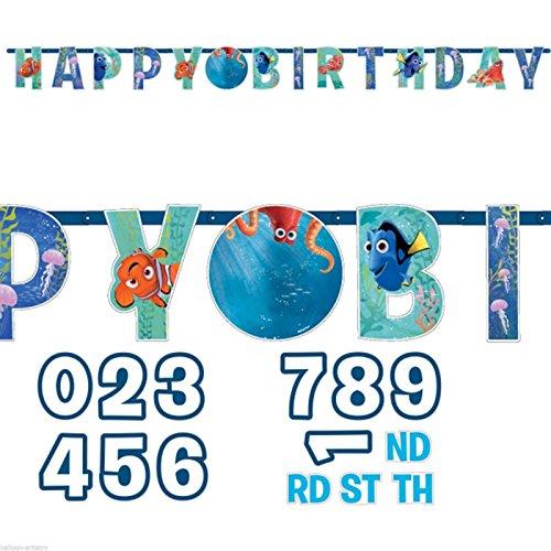 Amscan International 9900959-Cartel de 1,4m para cumpleaños con diseño de Buscando a Dory