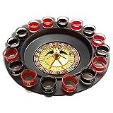 Roulette-Spiel und trinken für Getränke mit 16 Gläsern Shooter