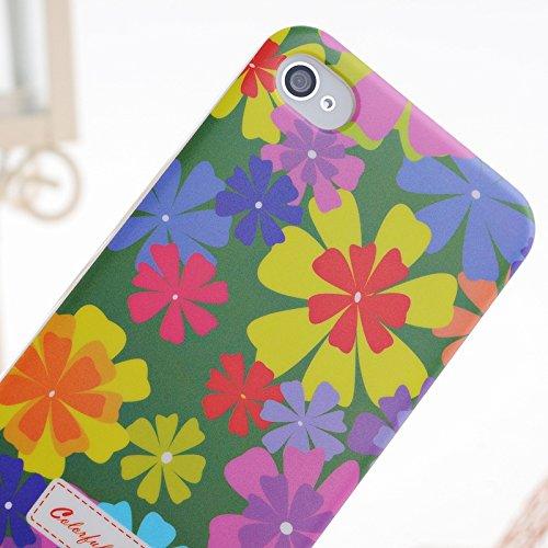 iPhone Case Cover Peinture couleur petites fleurs en plastique dur cas de couverture d'iPhone 4S Pour 4 ( Color : 9 ) 6