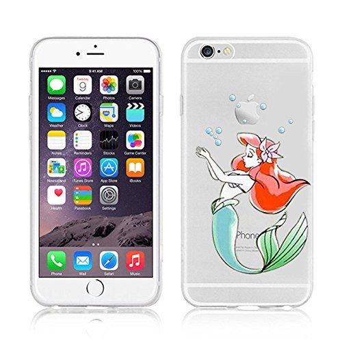 OB4me New Disney Princesses AREIL TRANSPARENT Clear TPU Soft CASE for Apple iPhone 7 - AREIL 8