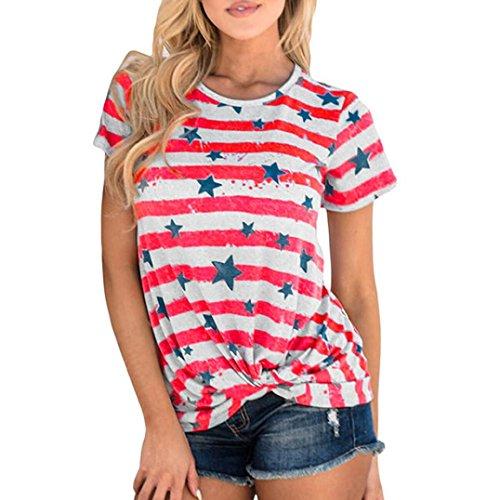 Shirt Kurzarm Streifen Rundhals Casual Tops Bluse T-Shirt Party Clude Bikini Unterwäsche Streetwear Nachtwäsche Girls School Sport Dancer Sweatshirts Westen (S, Weiß) (School Girl Kostüm Schuhe)