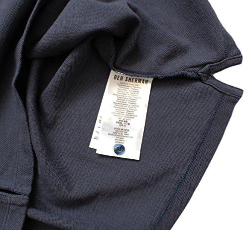 Ben Sherman Herren Poloshirt, Einfarbig schwarz schwarz / weiß Small Navy - Red Logo