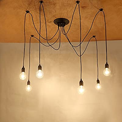 Vintage Ceiling Pendant Chandelier with 10 E27 Sockets, for Bedroom Living Room Dining Room Hall by NetBoat