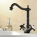 Cocina grifo de agua negro largo para Regentonne lavabo (doble conexión extensor