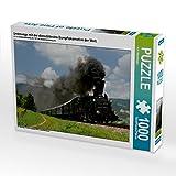 Unterwegs mit der dienstältesten Dampflokomotive der Welt. 1000 Teile Puzzle quer: 671 auf der Leibenfelder Höhe in De