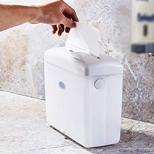 Yxian Aufsatzhandtuchhalter trockener Handpapierhalter Desktop mit Saugnapf mit Feder durch weiße vertikale Lochung-frei (Lochung Vertikale)