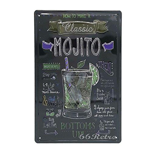 t klassisch Mojito, Retro Metall blechschild, Wand Deko Schild (Klassische Halloween-filme Familie)