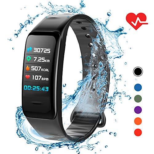 Lixada Smart Armband IP67 Damen Herren Fitness Tracker Uhr mit Herzfrequenz Schrittzähler Kalorienzähler Schlafüberwachung