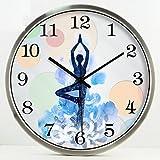 CGN Yoga Studio Gewicht-Verlust Praxis Zimmer Meditation Kunst Wanduhr Stumm Hanging Table...