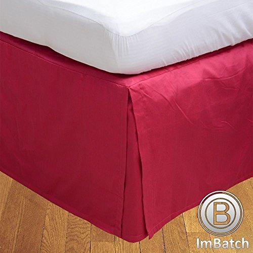 500TC 100% cotone egiziano, finitura elegante scatola salva Bedskirt, pieghettato, a forma di goccia, lunghezza: 55,88 (22) cm), Cotone, Navy Blue Solid, Matrimoniale uk super king Hot Pink Solid