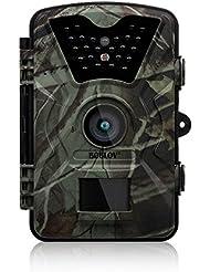 """Uphig Boblov CT008 12MP1080P HD Caméra de Chasse Caméra de Jeu Sentier Surveillance Vision Nocturne Infrarouge avec Laps de Temps 65ft 24pcs IR LED 2.4 """"Ecran LCD Imperméable IP55"""