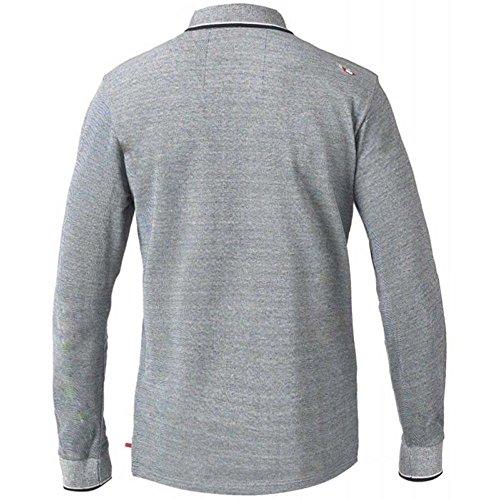 D555 Duke Kingsize Big Mens Howard Long Sleeve Polo Shirt Charcoal Melange 2XL-6XL RRP £36.00 Charcoal Melange