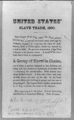 Infinite Photographs Foto: Vereinigten Staaten 'Slave Trade, 1830, Ketten und Fesseln, USA Capitol