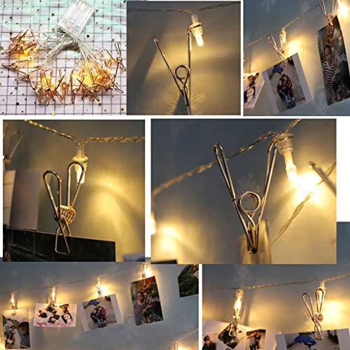 Foto Clip Lichterketten, Kartenfoto Clip String Licht Picture Lights zum Aufhängen von Fotos, Bilder, Hochzeit, Schlafzimmer Dekorationen, hängende Weihnachtskarten & Notizen