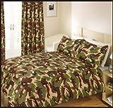 Camouflage Grün Bettwäsche , Bettbezug 200 x 200 cm 2x Kissenbezug 50 x 75 cm