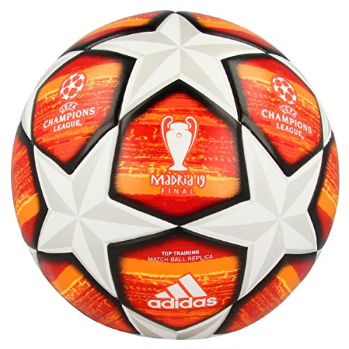 cf2088797cfba adidas Finale M TTRN Ballon de Football Homme, Top:White/Active Scarlet Red