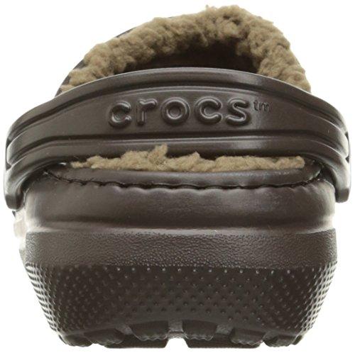 Crocs Clsclinedclogk, Ciabatte Unisex – Bambini Marrone (Espresso/Khaki)