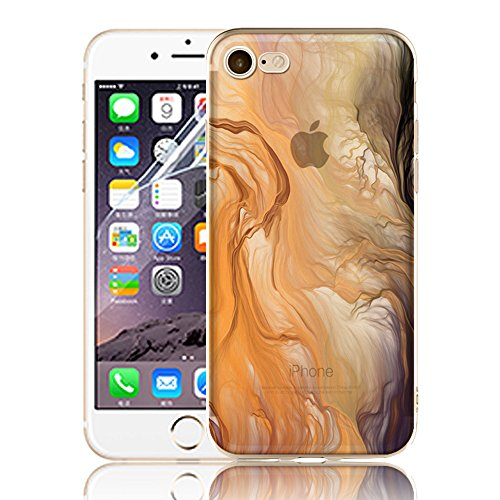 Ultra Sottile Custodia per iPhone 7 Plus iPhone 7 Plus, Cover per iPhone 7 Plus, Sunroyal Creativa Wave Cover Morbido Flessibile TPU Silicone Gel Protettivo Skin Caso Custodia Protettiva Shell Case Co Model 04