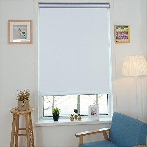 MCTECH® Thermorollo Verdunkelung Verdunkelungsrollo Seitenzugrollo Klemmfix Rollo ohne Bohren (90 x 160 cm, Weiß)