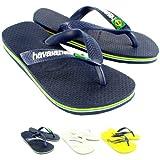 Unisex Kinder Havaianas Logo Schlüpfen-Auf Sommer Strand Sandale Flip Flops