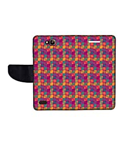 KolorEdge Printed Flip Cover For Huawei Honor Holly Multicolor -(50KeMLogo12264HonorHolly)