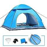 LIVEHITOP Pop Up Automatica Tenda 3 / 4 Persone Grande, Anti UV Istantanee Tendas per Campeggio, Spiaggia, Famiglia, Giardino, Trekking, Giardino, 200x200x125cm (Blu)