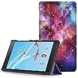 Lenovo Tab 7 Essential Hülle - Ultra Dünn und Leicht PU Leder Schutzhülle mit Standfunktion für Lenovo Tab 7 Essential 17,78 cm (7 Zoll) Tablet-PC, Milchstraße (Nicht für Lenovo Tab3 7 Essential)