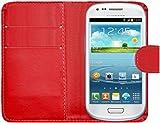 SAMRICK Executive Appositamente Custodia per Samsung Galaxy S3 Mini, Rosso