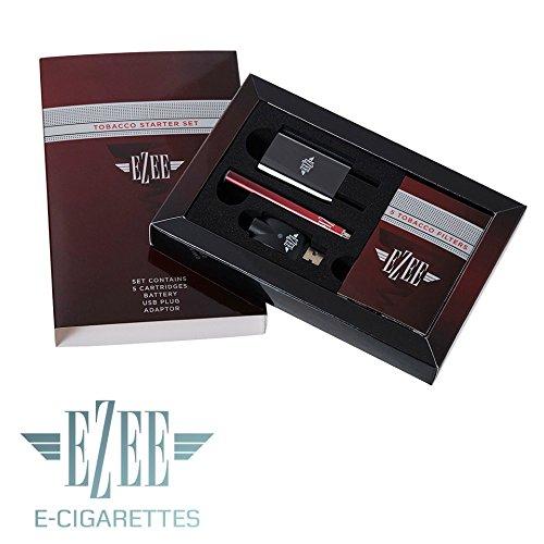 Ezee Sigarette elettroniche kit di partenza | Sigaretta elettronica sapore Tabacco | Ricaricabile | 5 filtri incluso | Senza Nicotina