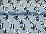 Jersey Stoff - Das kleine Stinktier - Kinderstoffe Meterware Baumwolljersey der Preis Gilt für 25 cm Länge. 12,00 Euro/Meter