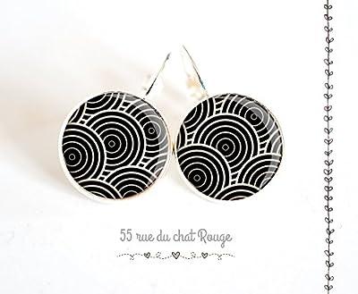 Boucles d'oreilles pendantes style orientale, hippie chic, bohême, fushia orange, boho, gypsy