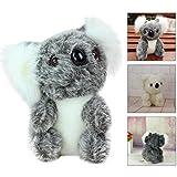 17cm Cute Stuffed Simulation Koala Dolls, GreatestPAK Zoo Animals Soft Toy Furniture Dollhouse Childrens' Day Gift (Grey)