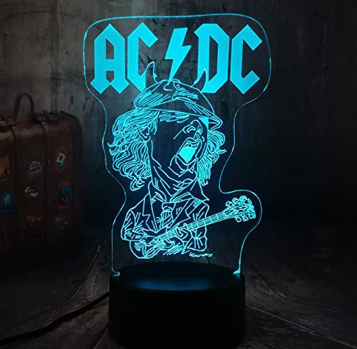 beste Geschenk 3D LED Nachtlicht UB Acryl Tischlampe Raum Dekoration Geburtstag Weihnachtsgeschenk ()
