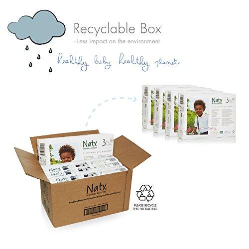 NATY by Nature Babycare Ökowindeln – Größe 3 (4-9 Kg), 4er Pack (4 x 31 Stück) - 3