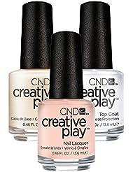 CND Creative Play Life's a Cupcake Nr. 402 13,5 ml mit Creative Play Base Coat 13,5 ml und Top Coat 13,5 ml, 1er Pack (1 x 0.041 l)